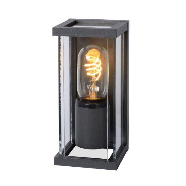 Lucide Claire Mini - buiten wandverlichting - 11 x 20 x 9 cm - IP54 - antraciet