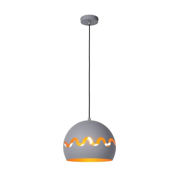 Lucide Corentin - hanglamp - Ø 28 x 153 cm - grijs