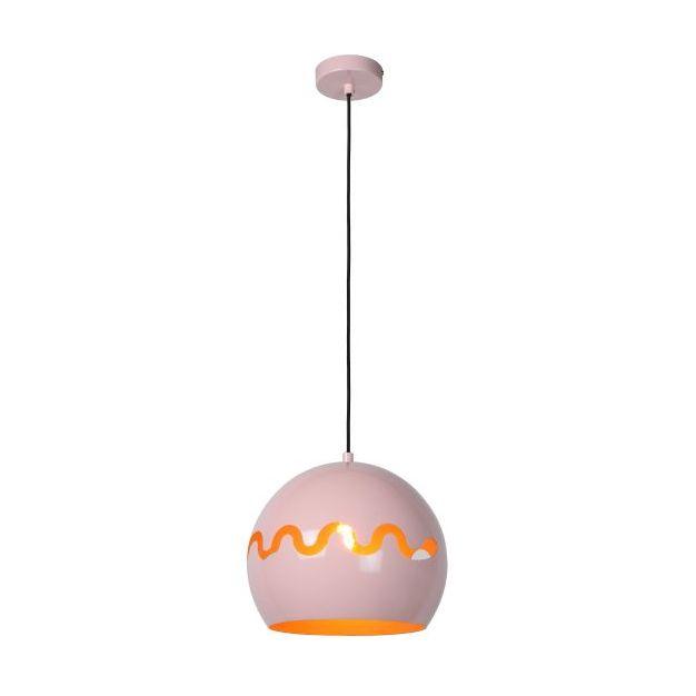 Lucide Corentin - hanglamp - Ø 28 x 153 cm - roos