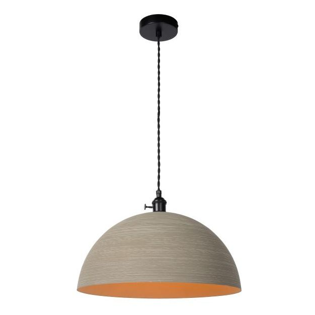 Lucide Marne - hanglamp - Ø 40 x 150 cm - taupe