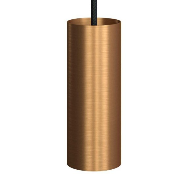 Creative Cables Tube - hanglamp 1L - Ø 12,5 x Ø 6 x 190 cm - geborsteld brons