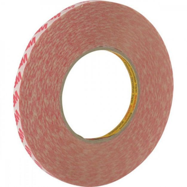 3M dubbelzijdige tape - 0,9 x 500 cm - transparant