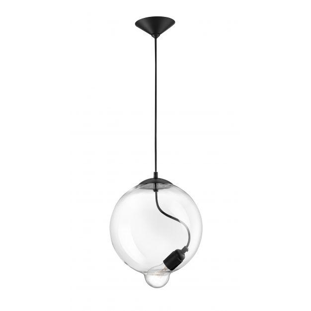 Nova Luce Goccia - hanglamp - 30 x 25 x 180 cm - transparant en zwart
