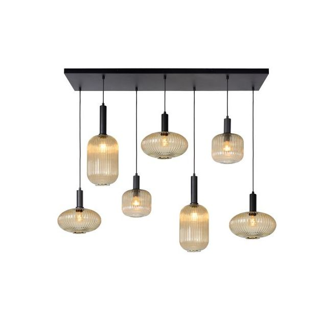 Lucide Maloto - hanglamp - 130 x 30 x 150 cm - amber