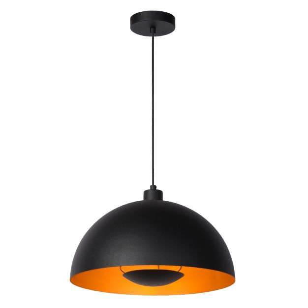 Lucide Siemon - hanglamp - Ø40 x 150 cm - zwart