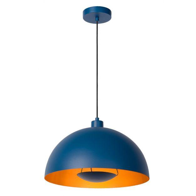 Lucide Siemon - hanglamp - Ø40 x 150 cm - blauw