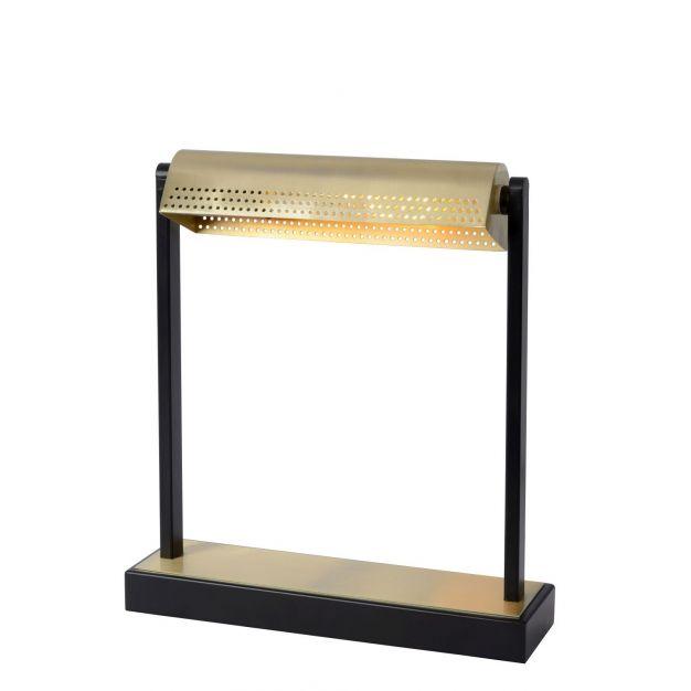 Lucide Laut - bureaulamp - 8 x 29 x 33 cm - 3 stappen dimbaar - zwart