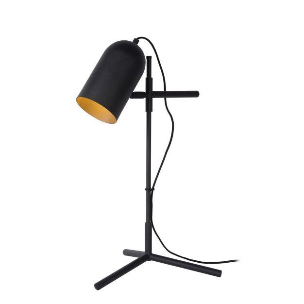 Lucide Edek - tafellamp - 35 x 36 x 60 - zwart