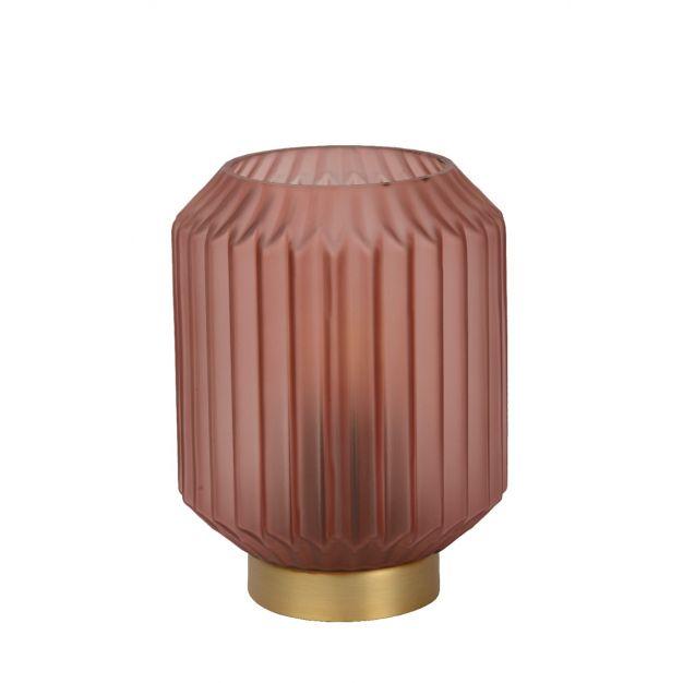 Lucide Sueno - tafellamp - Ø 12,5 x 17 cm - roos