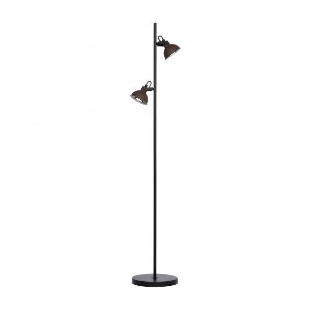 Lucide Damian - staanlamp - 140 cm - roest bruin