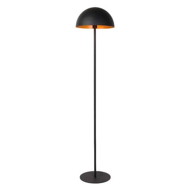 Lucide Siemon - staanlamp - Ø35 x 160 cm - zwart