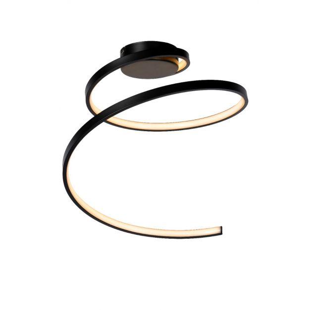 Lucide Maxence - Ø 46 x 35 cm - 24W LED incl. - 3 stappen dimbaar - zwart