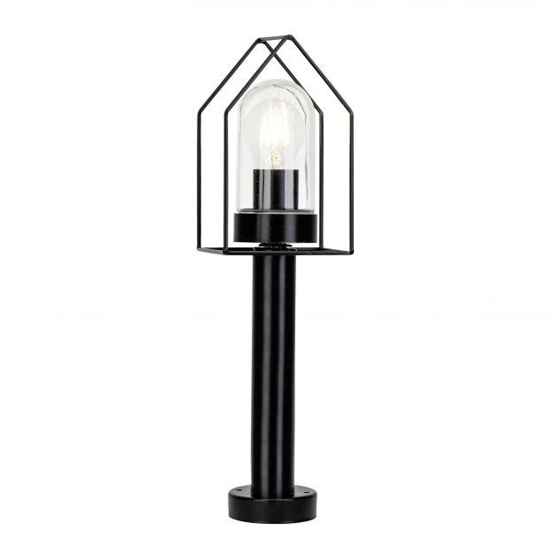 Brilliant Home - tuinpaal - 45 cm - IP44 - zwart met transparant glas (laatste stuks!)