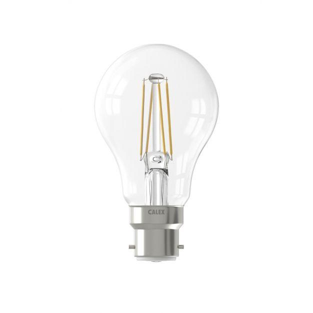 Calex LED lamp - Ø 6 x 10,3 cm - B22 - 7W - dimbaar - 2700K - transparant