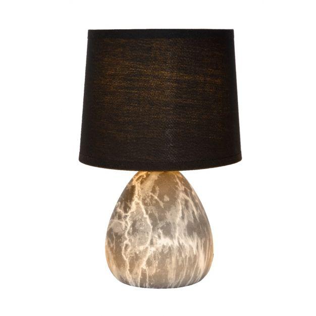 Lucide Marmo - tafellamp - Ø 16 x  25,5 cm - zwart
