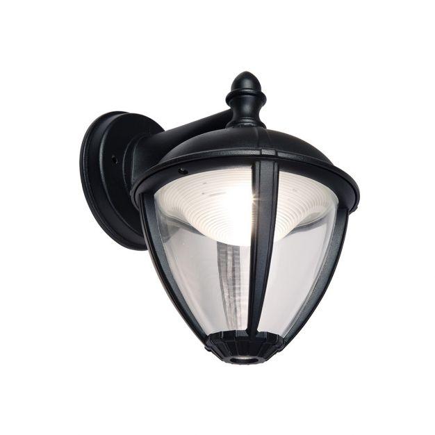 Lutec Unite - buiten wandlamp - 20 x 16 x 22 cm - 9W LED incl. - IP44 - zwart