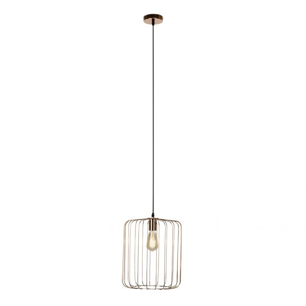 Brilliant Flavian - hanglamp - 31 x 142 cm - koper