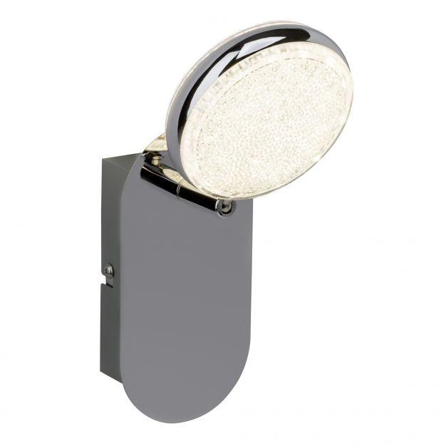 Brilliant Cassy - opbouwspot RGB met afstandsbediening - 10 x 16 x 17,5 cm - 6W dimbare LED incl. - chroom