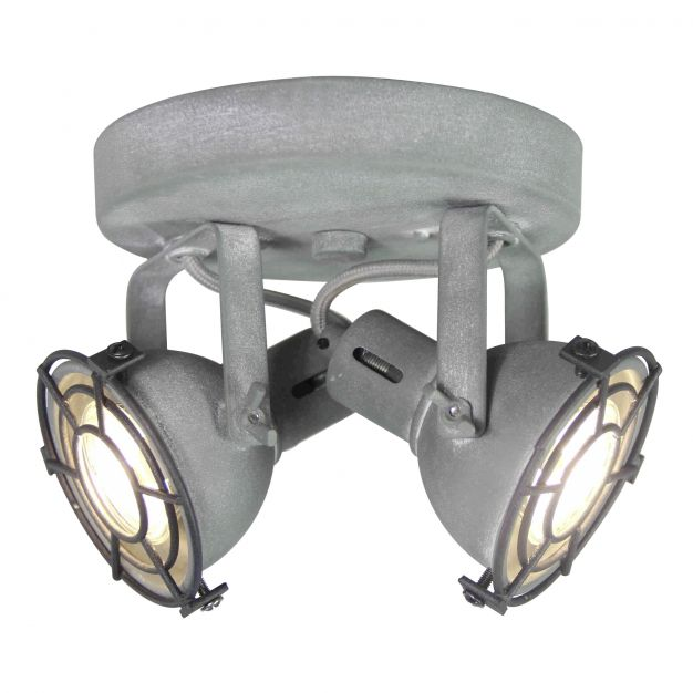 Brilliant Jesper - opbouwspot 2L - Ø 20 x 15 cm - 2 x 4W LED incl. - betongrijs