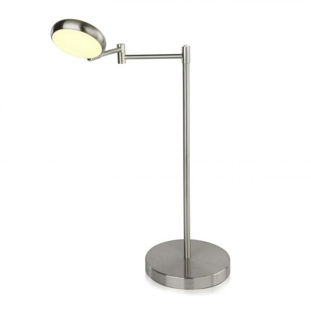 Brilliant Double – tafellamp - 46 x 51 x 37 cm - 5W dimbare LED incl. - satijn chroom