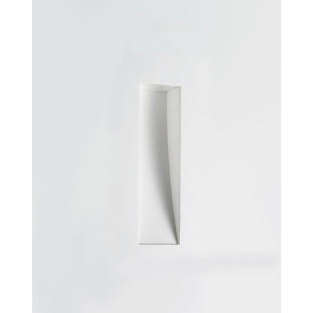 Nova Luce Cirocco - inbouw wandverlichting - 24 x 11 cm - wit gips