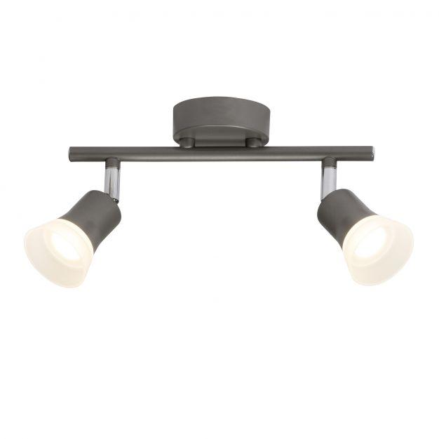 Brilliant Spoti - opbouwspot 2L - 25 cm - 2 x 4W LED incl. - antraciet