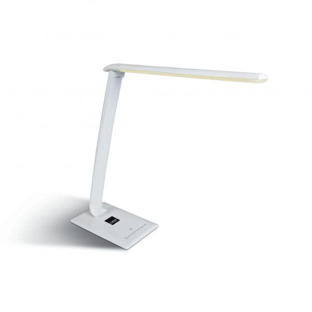 ONE Light Reading LED Lamps - bureaulamp met USB-poort - 35,5 x 12,5 x 42 cm - 15W dimbare LED incl. - wit