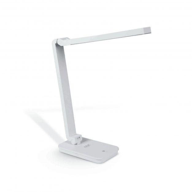 ONE Light Reading LED Lamps - bureaulamp met USB-poort - 30,3 x 10,5 x 34 cm - 6W dimbare LED incl. - wit
