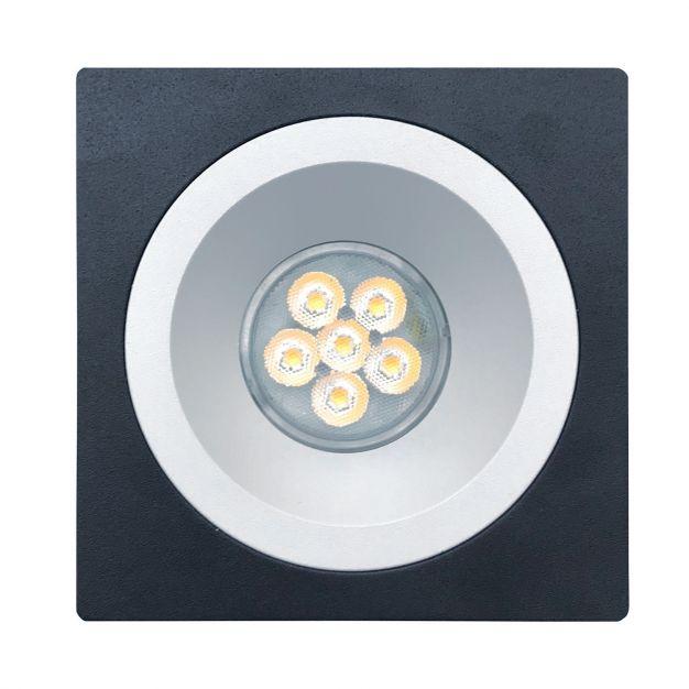 Nova Luce Raena-Cid - inbouwspot - 100 x 100 mm, Ø 75 mm inbouwmaat - zwart en wit