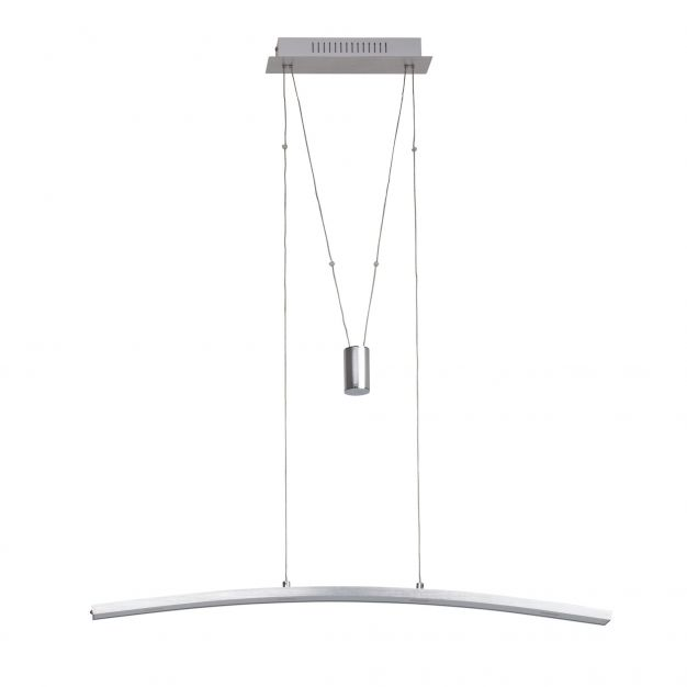 Brilliant Art work - hanglamp - 90 x 8 x 150 cm - 6 x 4,5W dimbare LED incl. - aluminium