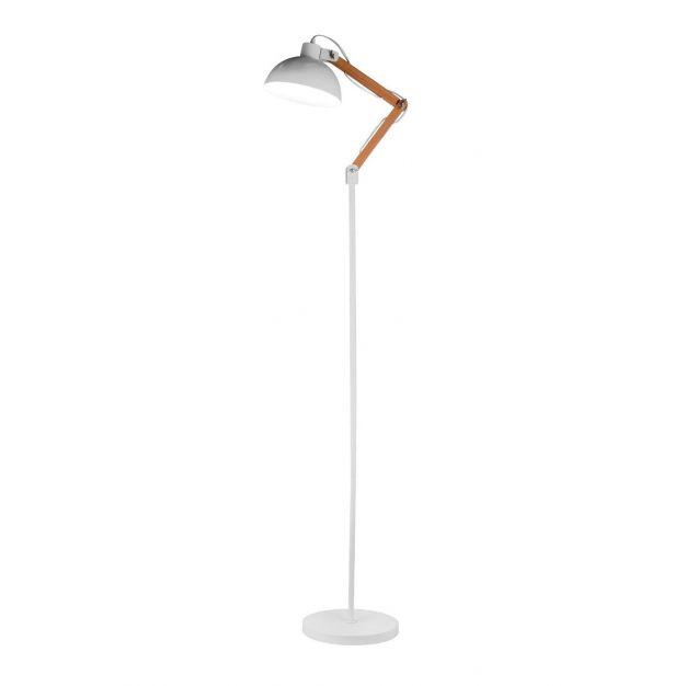 Nova Luce Mutanti - staande lamp - 170 cm - wit en hout