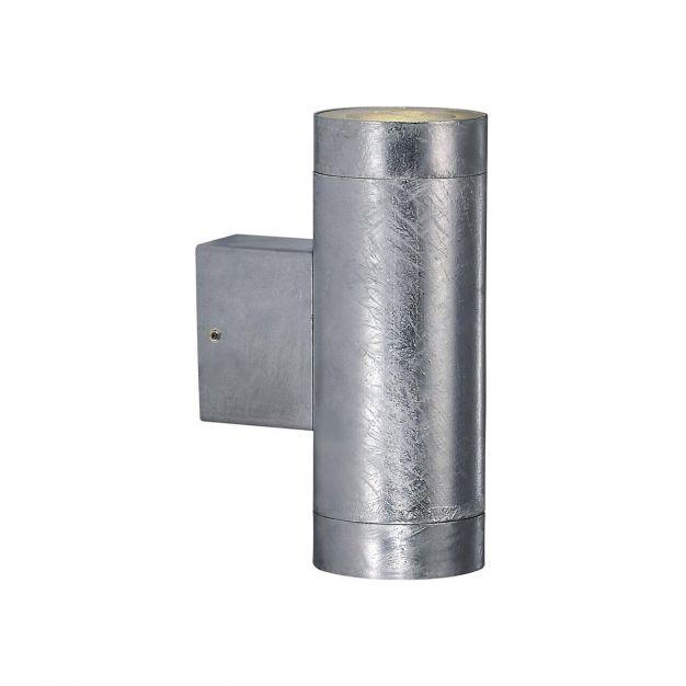 Nordlux Castor Maxi - buiten wandverlichting - 7,5 x 20,5 x 12,5 cm - 2 x 3W LED incl. - IP54 - gegalvaniseerd staal