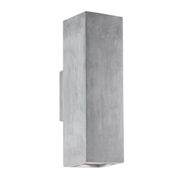 Nova Luce Morena - wandverlichting 2L - 25 cm - grijs beton (laatste stuk)