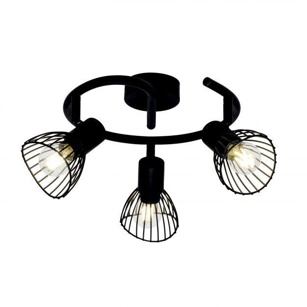 Brilliant Elhi - opbouwspot 3L - Ø 42 x 16,5 cm - zwart