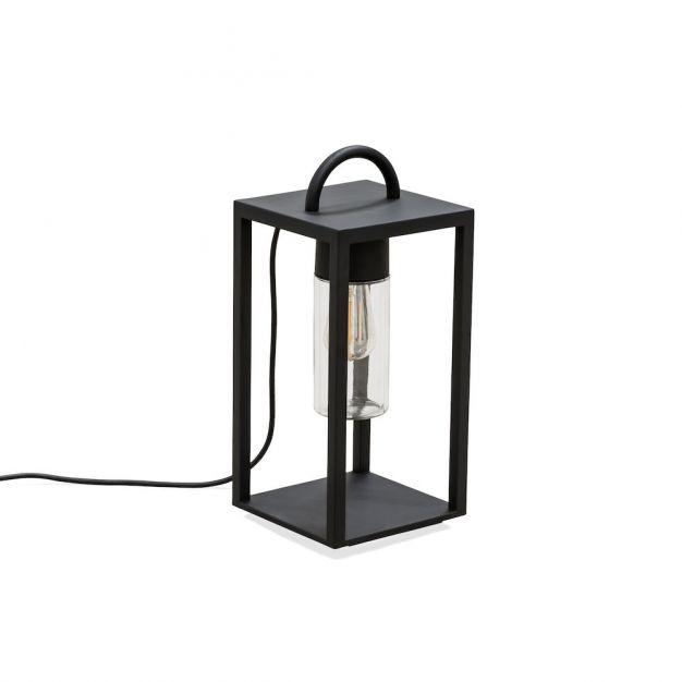 Konstsmide Bologna - tafellamp met stekker - 20 x 45,5 x 20 cm - IP44 - zwart