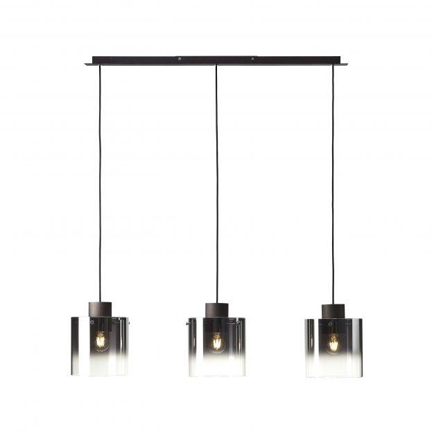 Brilliant Beth - hanglamp - 100 x 20 x 122 cm - koffie en rookglas