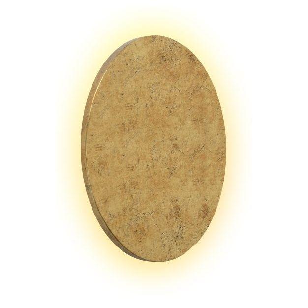 Lucide Glimpse - wandverlichting - Ø 22 x 3,5 cm - 5W LED incl. - mat goud