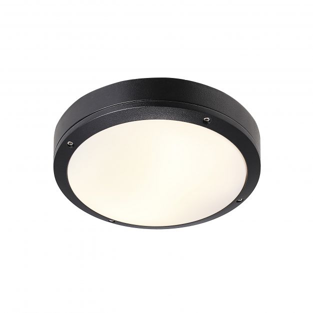 Nordlux Desi 28 - buiten wandverlichting - Ø 27,5 x 7,5 cm - IP44 - zwart