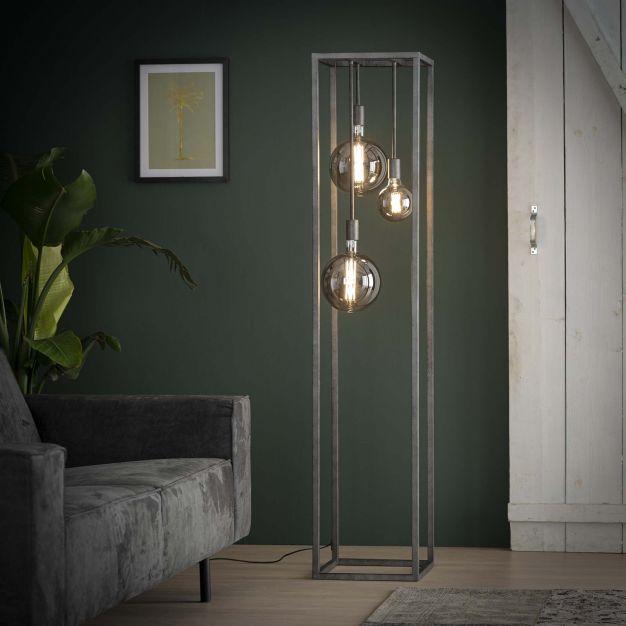 Vico Pilar - staanlamp - Ø 35 x 170 cm - oud zilver