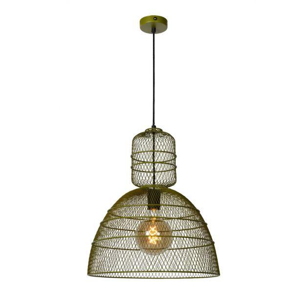 Lucide Gasset - hanglamp - Ø 42,5 x 169 cm - groen