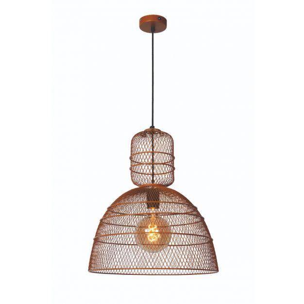 Lucide Gasset - hanglamp - Ø 42,5 x 169 cm - bruin