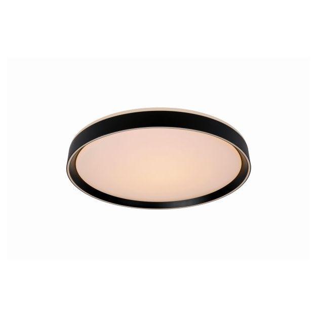 Lucide Nuria - plafondverlichting - Ø 30 x 7,5 cm - 18W LED incl. - 3 stappen dimbaar - zwart