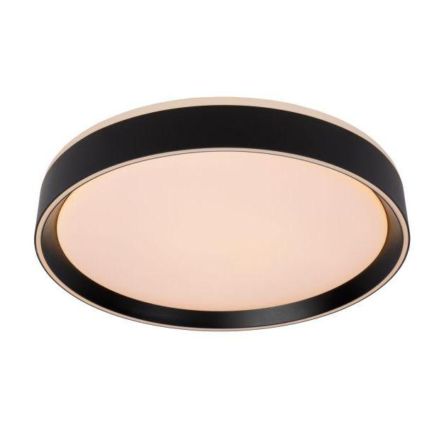 Lucide Nuria - plafondverlichting - Ø 40 x 7,5 cm - 24W LED incl. - 3 stappen dimbaar - zwart