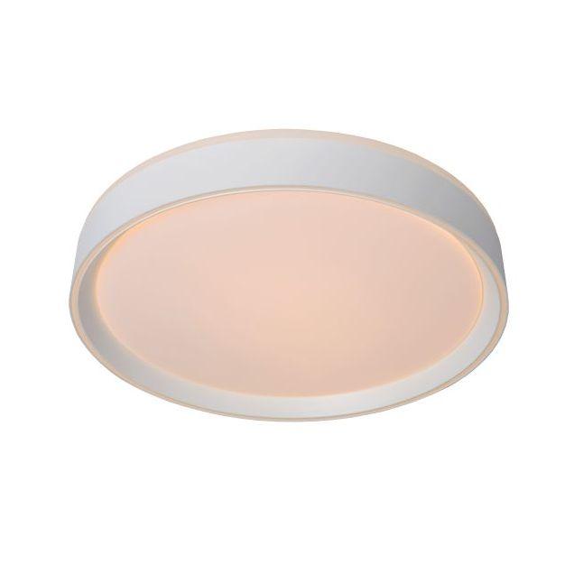 Lucide Nuria - plafondverlichting - Ø 40 x 7,5 cm - 24W LED incl. - 3 stappen dimbaar - wit
