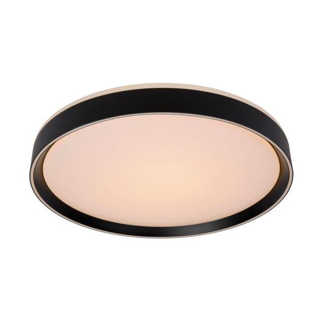 Lucide Nuria - plafondverlichting - Ø 50 x 7,5 cm - 36W LED incl. - 3 stappen dimbaar - zwart
