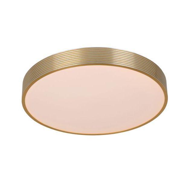 Lucide Malin - plafondverlichting - Ø 39 x 6,5 cm - 24W LED incl. - 3 stappen dimbaar - mat goud