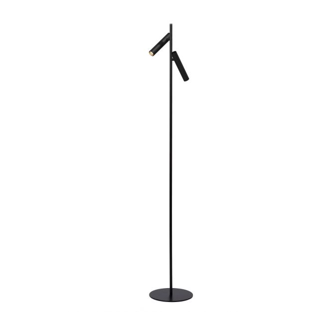 Lucide Philon - Leeslamp - Ø 23 x 140 cm - 2 x 4,5W dimbare LED incl. - zwart