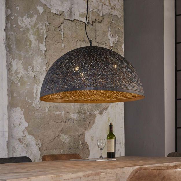 Vico Perforated - hanglamp 1 - 70 x 150 cm - zwart bruin