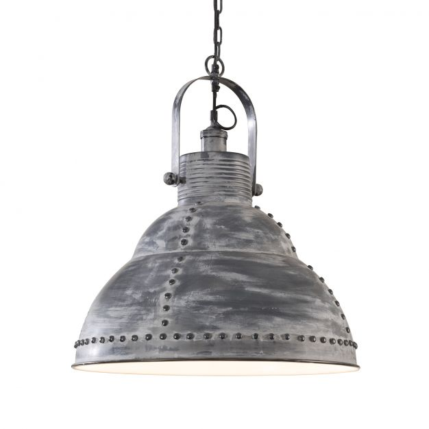 Vico Rivet - hanglamp - 51 x 150 cm - donkergrijs