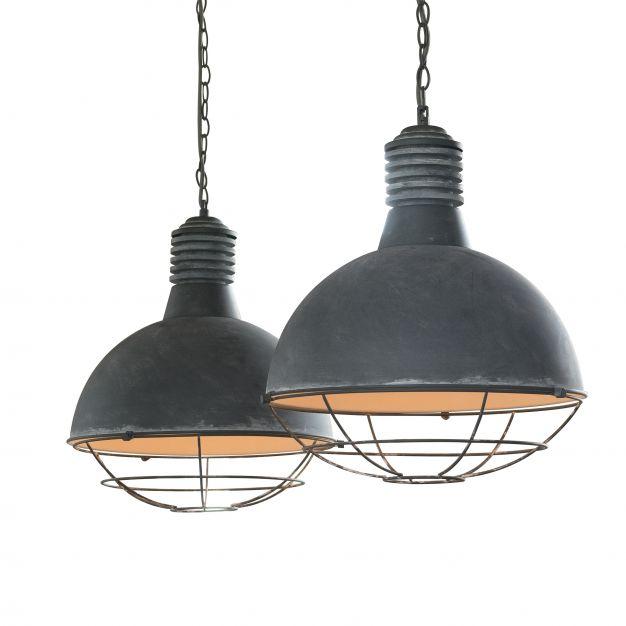 Vico Industry Raster - hanglamp 2L - 110 x 40 x 150 cm - grijs
